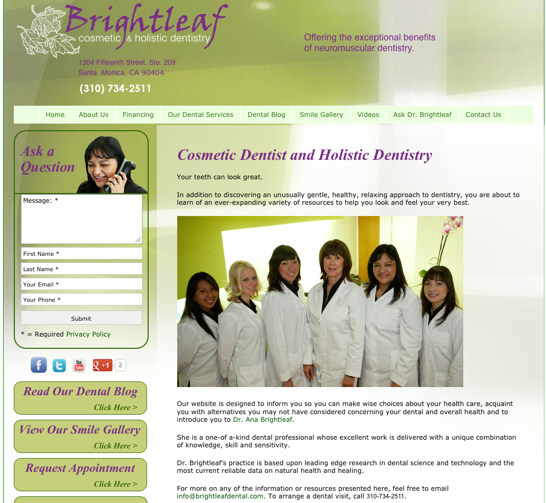 Brightleaf Dentistry Site