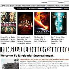 Ringleader Entertainment Site
